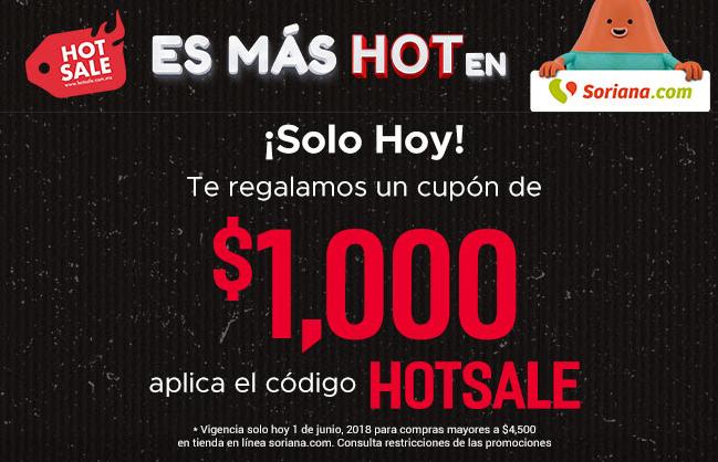 Soriana: Hoy cupón de $1,000.00 en compra minima de $4,500.00