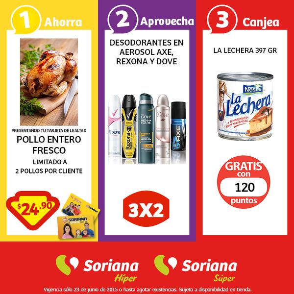 Soriana: Pollo entero $24.90 el kilo