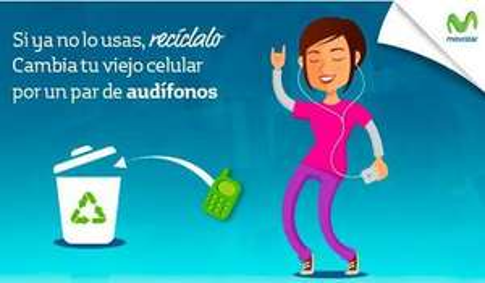 Movistar: Recicla tu celular viejo y obtén un par de audífonos