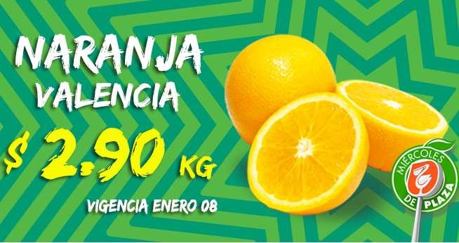 Miércoles de Plaza en La Comer enero 8: naranja $2.90 el kilo y más