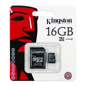 Hot Sale 2018 en Elektra: Memoria Kingston Micro SD de 16GB Clase 4
