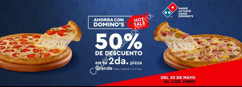 Domino's Pizza: Descuento del 50% en tu segunda pizza