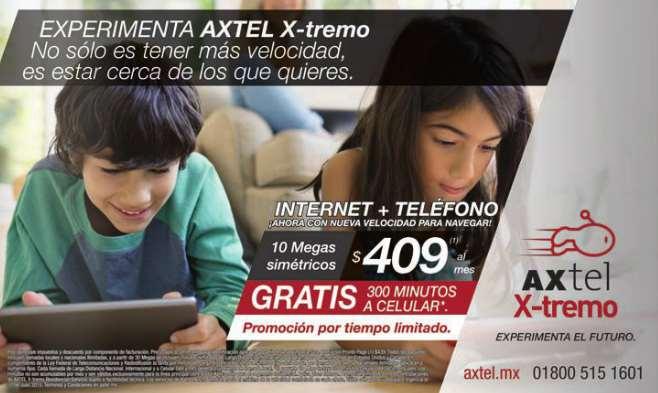 Axtel: 300 minutos a celular al mes gratis en paquete de internet y teléfono