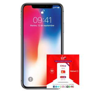 Hot Sale 2018 Walmart: iPhone X Apple 256GB Space Gray más servicio de 3 meses 1.5GB y 200 minutos AT&T