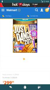 Hot Sale en Walmart: Just Dance 2017 Gold Edition para Wii U