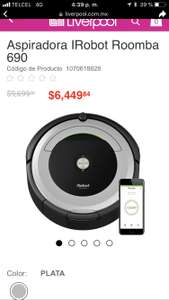 Hot Sale Liverpool: Irobot Roomba 690 $6,499