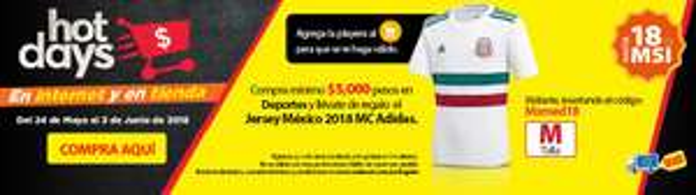 Walmart: Compra $5,000 en deportes y te regalan la playera blanca de la selección