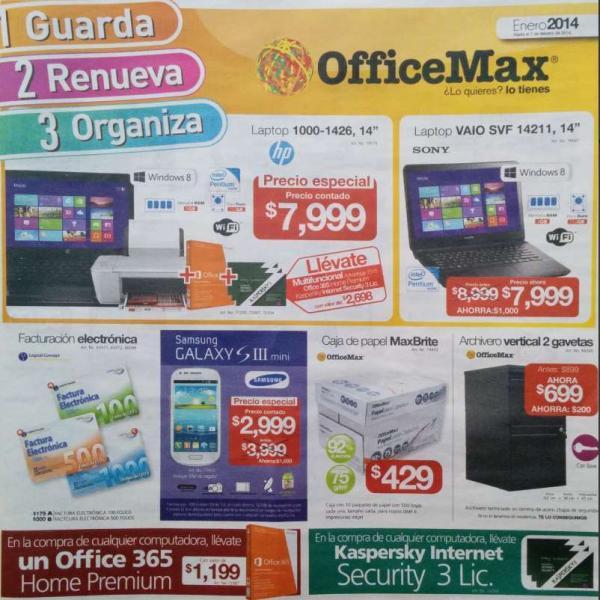 Folleto de ofertas en OfficeMax hasta el 2 de febrero