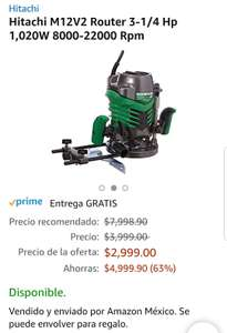Hot Sale 2018 en Amazon: Hitachi M12V2 Router 3-1/4 Hp con 66% de descuento