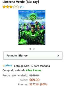 Hot Sale en Amazon Mexico: Blu-Ray Edición Extendida Linterna Verde