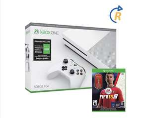 Hot Sale en Walmart: consola Xbox One S 500GB Reacondicionada + Fifa World Cup