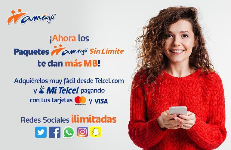 Telcel: Ahora más redes sociales Sin Límite a partir de $100