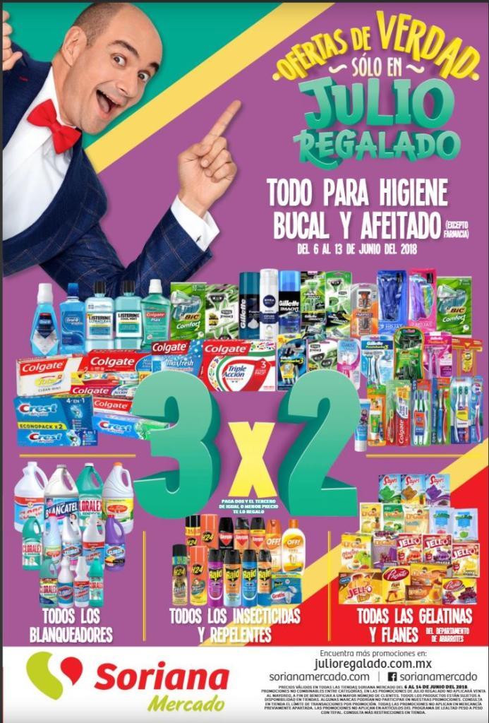 Soriana Mercado: Folleto Julio regalado del 6 al 13 de junio