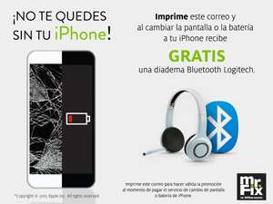 mr.Fix: cambias la pantalla o la bateria de tu iPhone y te regalan la diadema Bluetooth