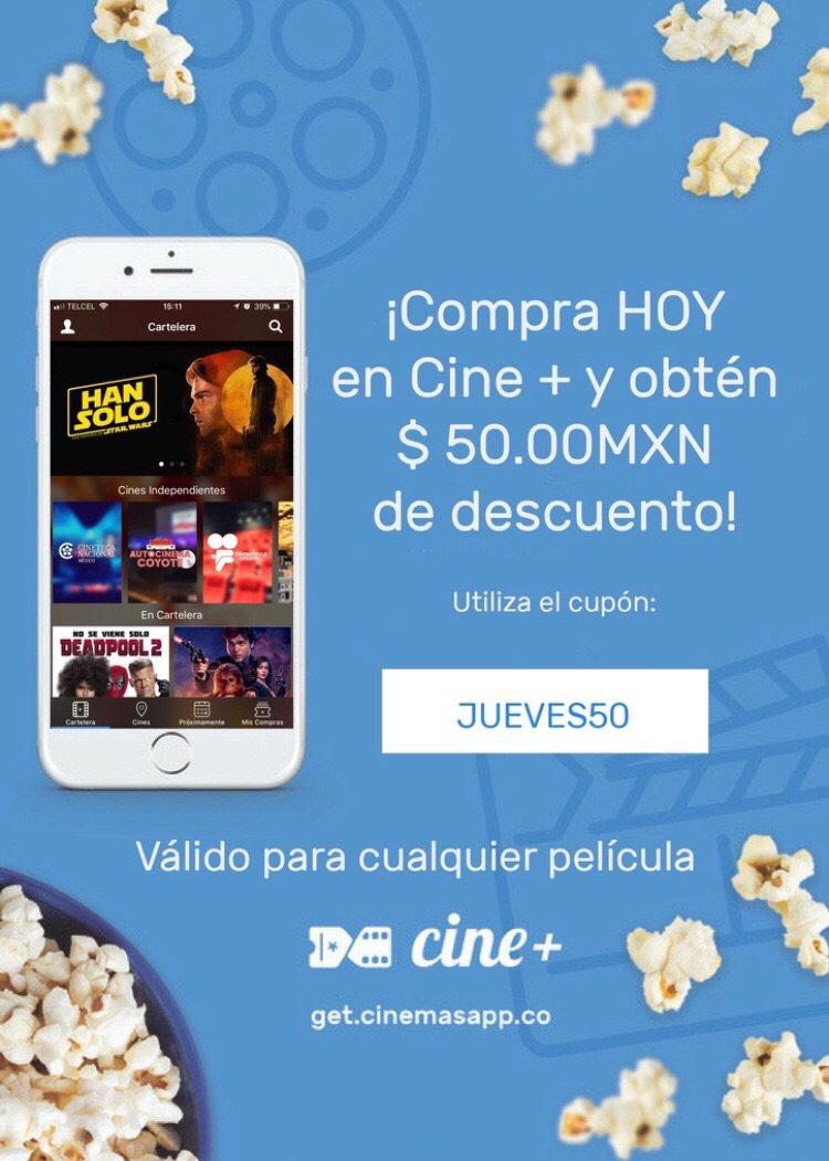 Cine+: $50 de descuento en tus boletos de cine