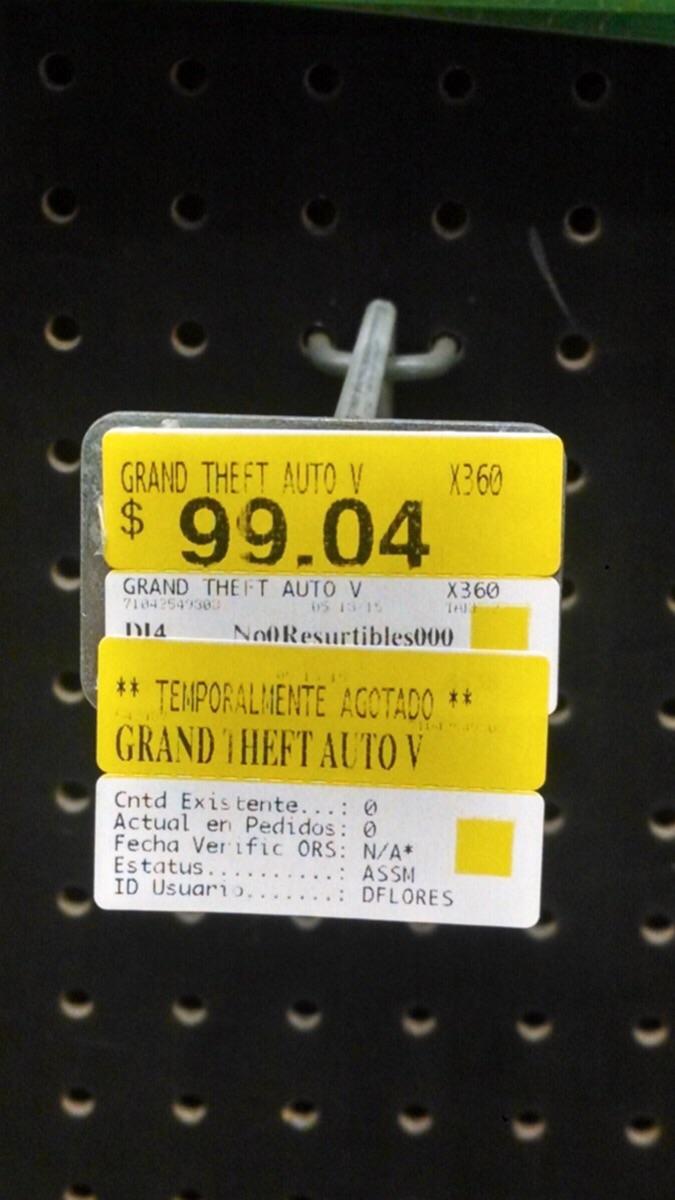 Walmart: GTA V para Xbox 360 en $99.04 y más ofertas