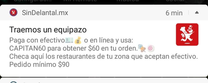 Sin Delantal: cupón $60 pedidos de $90