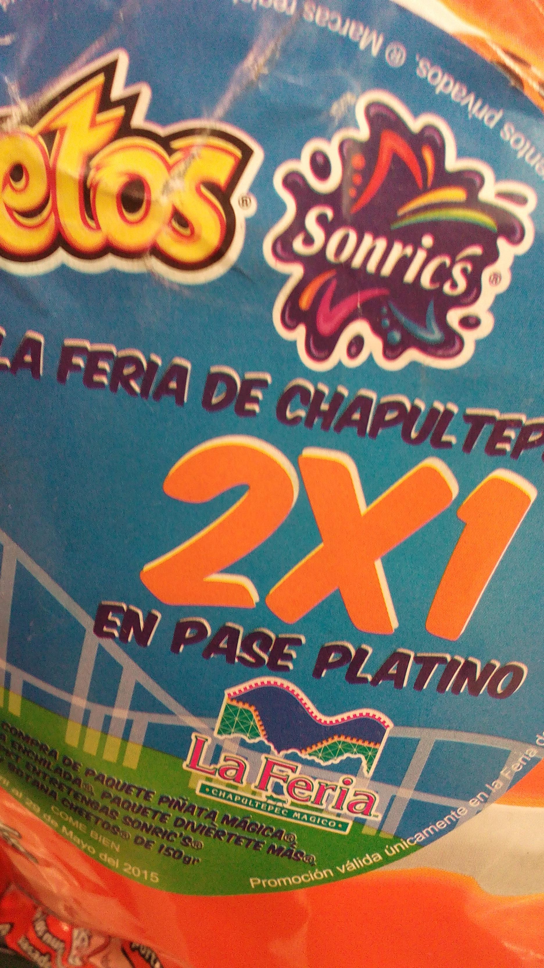 La Feria: Pasaporte PLATINO 2x1 en la compra de Cheetos