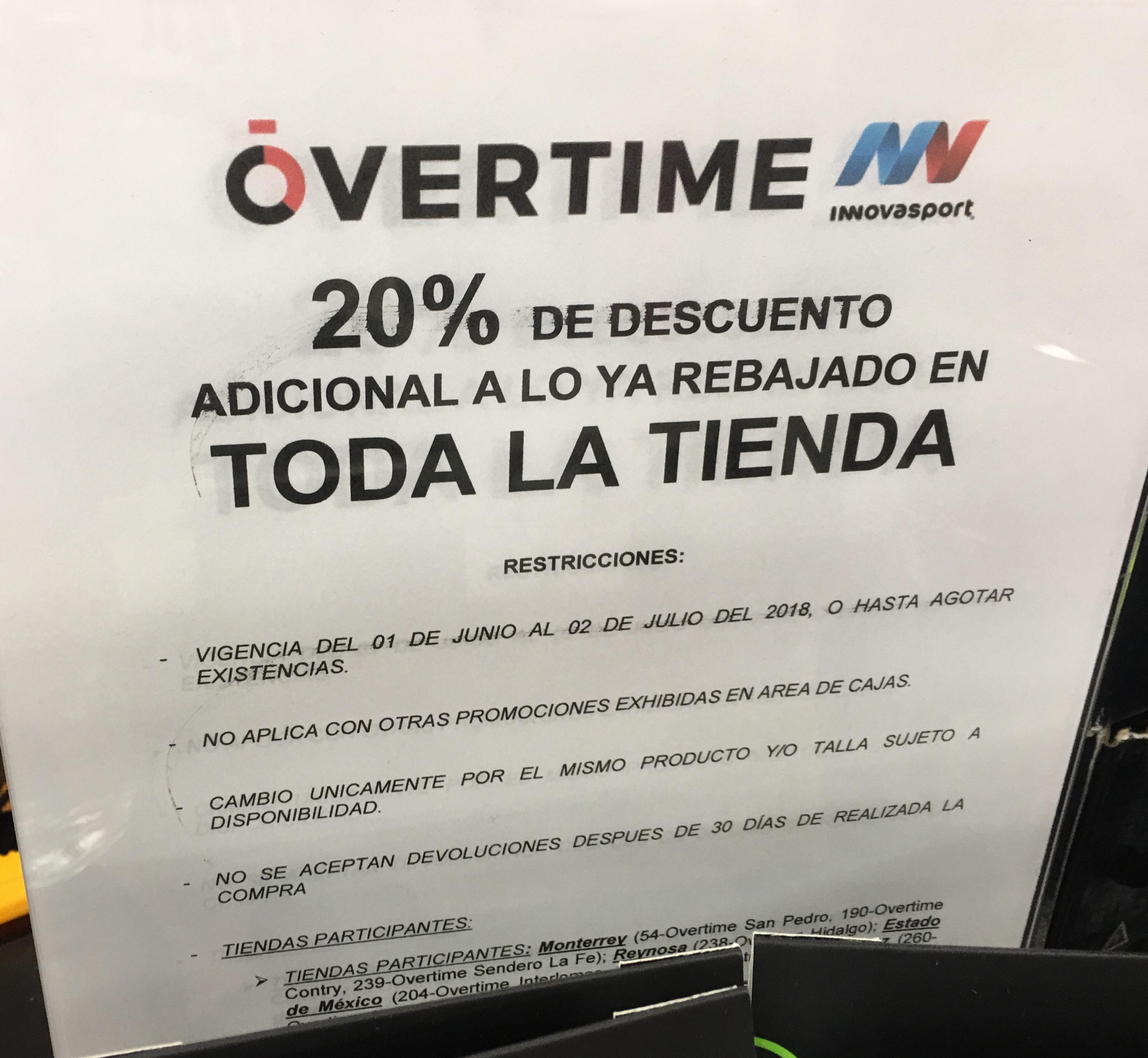 InnovaSport Overtime: 20% de descuento adicional en rebajas