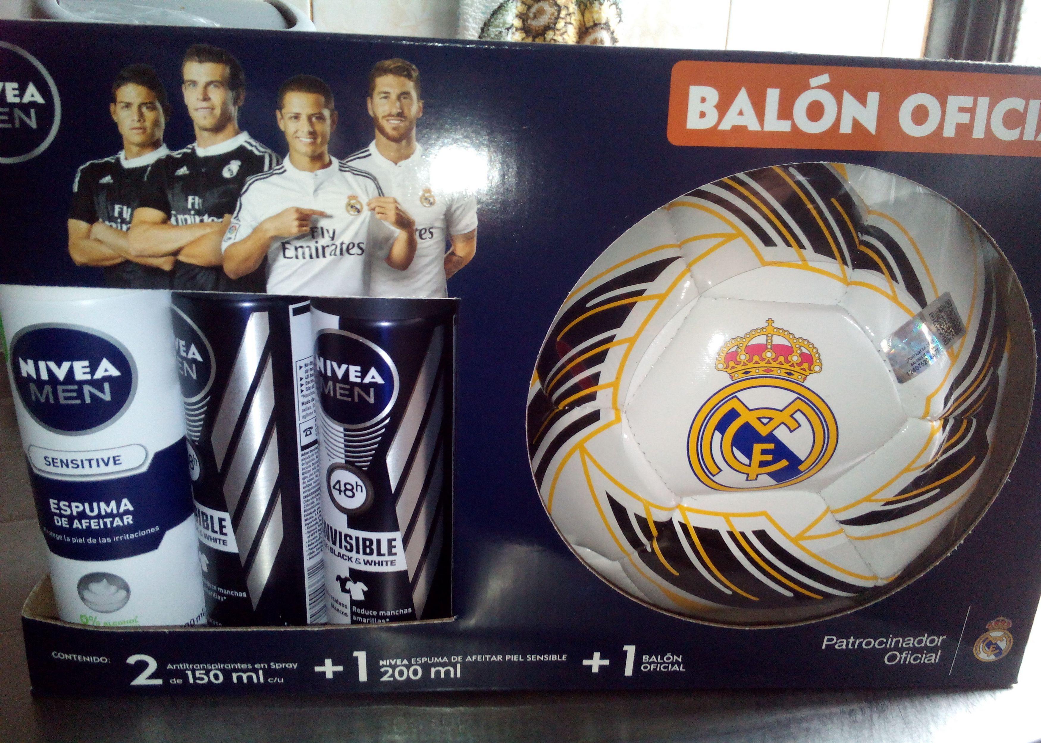 Walmart y Superama: Pack desodorantes Nivea Real Madrid