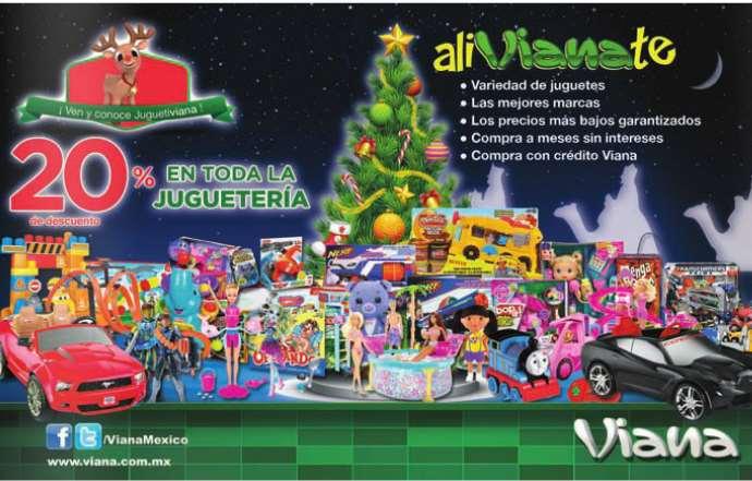 Viana: 20% de descuento en todos los juguetes