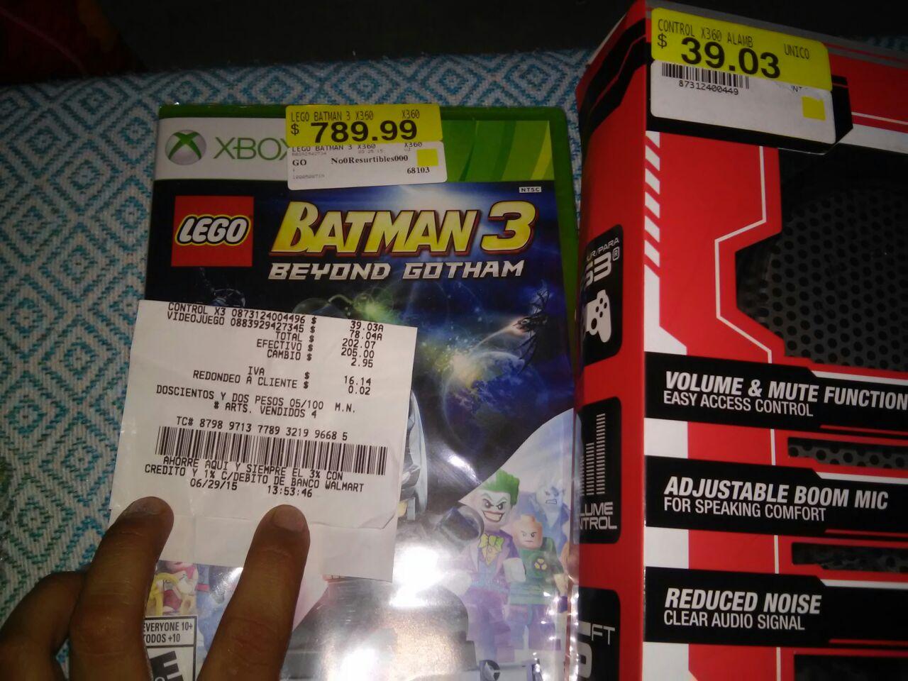 Bodega Aurrerá: Lego Batman 3 para Xbox 360 a $78.03 y audifonos para Play Station a $39.03