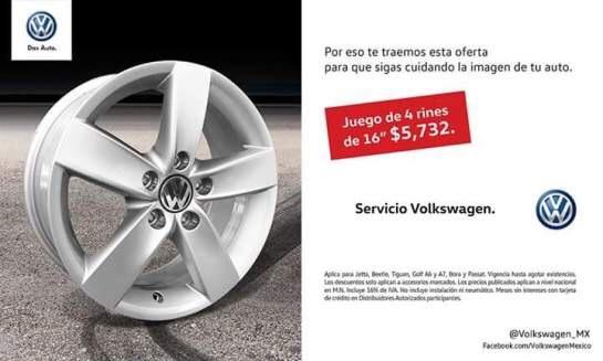 "Volkswagen: 4 rines de 16"" por 5,732"