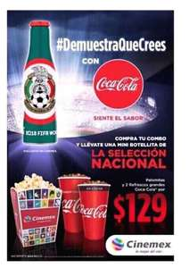 Cinemex: Combo + Mini Coca Cola