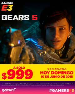 Gamers: Gears of War 5 para Xbox One Preventa solo hoy