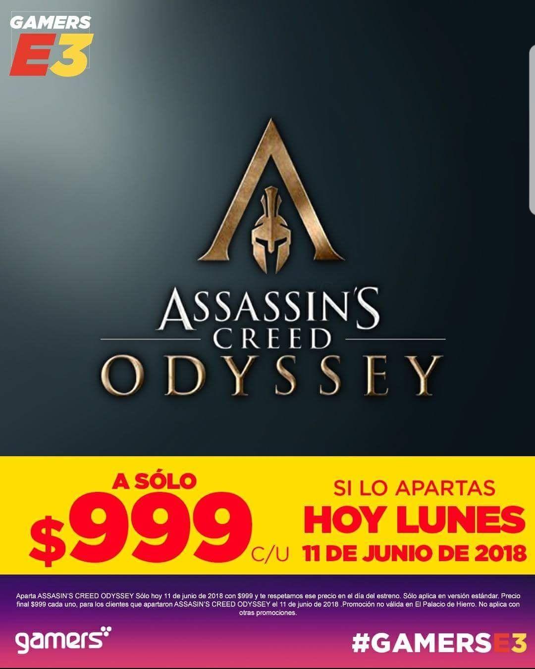 Gamers: Preventa Assassins Creed Odyssey en $999