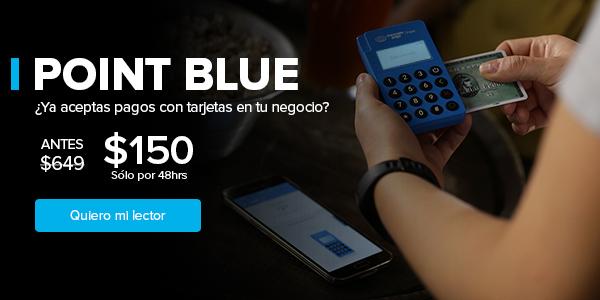 Lector de tarjetas de crédito y débito Mercado Point Blue