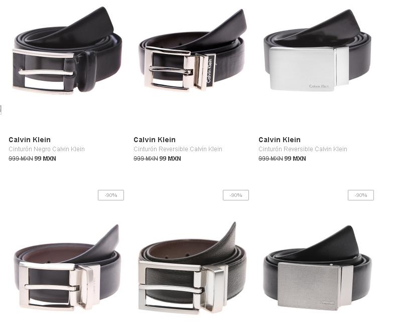 Dafiti: cinturones CK en $99 + cupon de $150 en compras arriba de 999