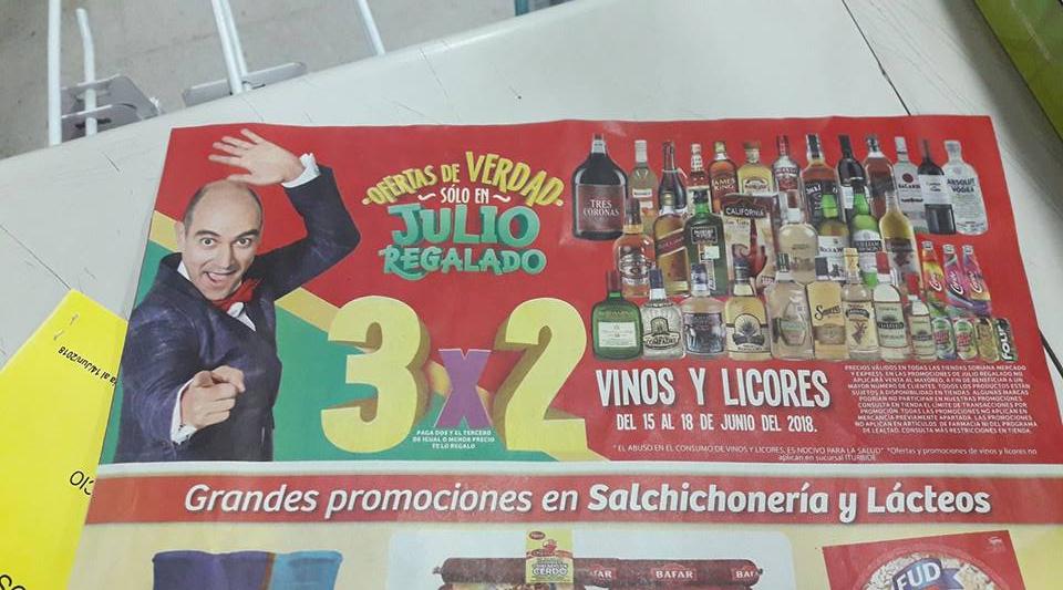 Julio Regalado 2018 en Soriana: 3x2 en Vinos y Licores