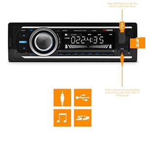 Amazon:  + BLUETOOTH XO Vision XD107 FM and MP3 Stereo Receiver with USB Port and SD Card Slot