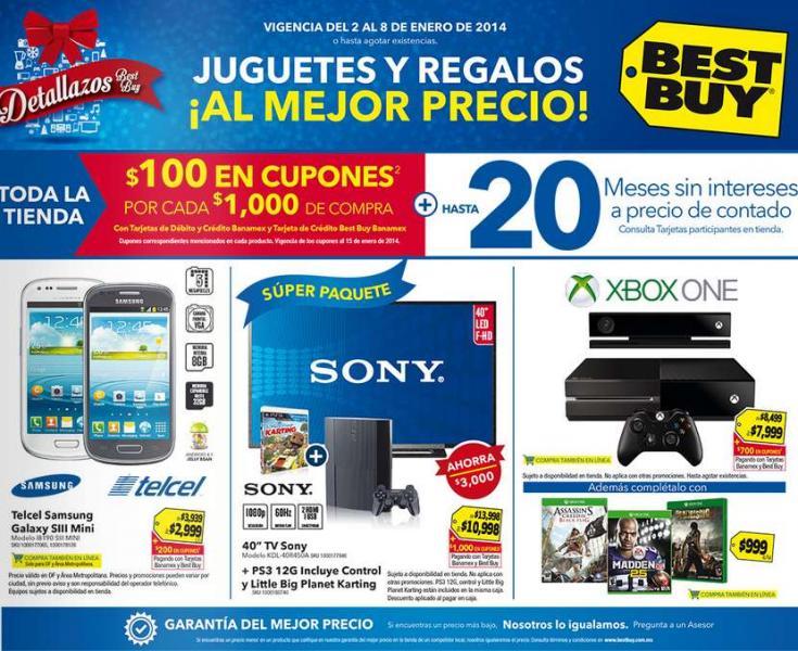 Best Buy: 20% menos en pantallas Sony y LG, Xbox One $7,999 + bonificación y más