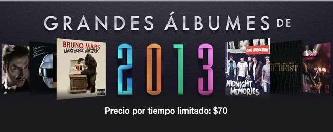 iTunes: grandes discos del 2013 a $70: Daft Punk, Miley Cyrus, Katy Perry, Zoé y más