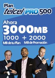 Promoción Triple de megas en planes Telcel Pro hasta el 31 de JULIO