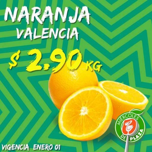 Miércoles de Plaza en La Comer enero 1: naranaja $2.90 y más