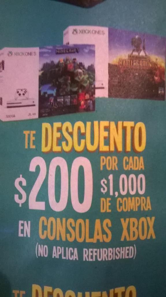 Soriana: Xbox con $200 de descuento por cada $1,000
