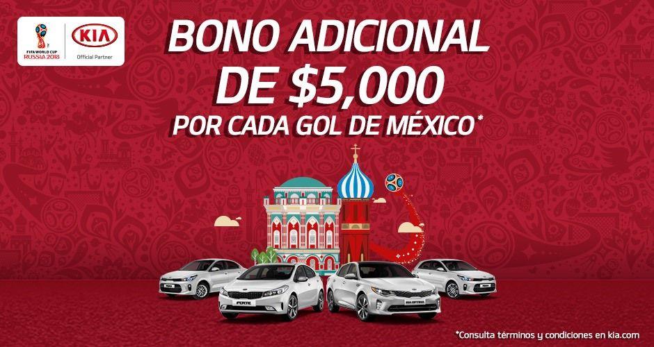 Kia: Bono de $5,000 por cada gol de la selección en fase de grupos.