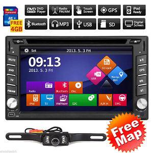 "Ebay: Autoestereo 2DIN pantalla Touch 6.2"" DVD Bluetooth GPS MP3 Ipod TV Cámara de Reversa"