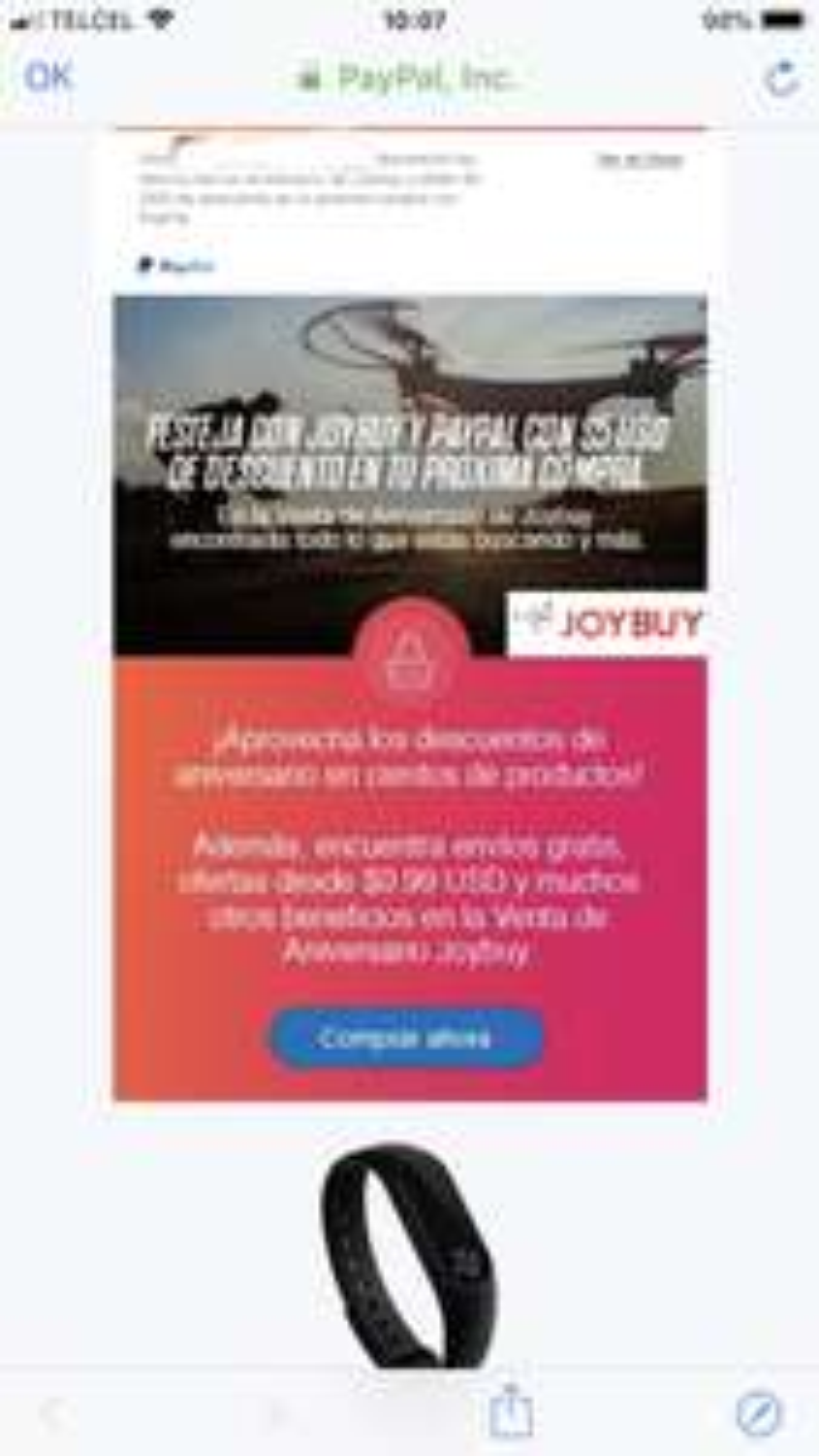JoyBuy: Aprovecha los descuentos de Aniversario de Joybuy y obtén $5 USD de descuento en tu próxima compra con PayPal.