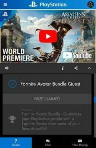 PlayStation Live: Fortnite Avatars Bundle GRATIS