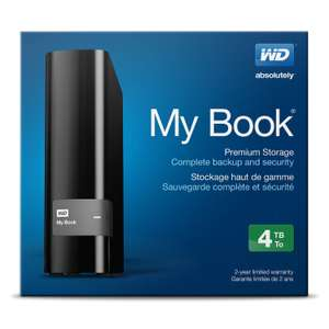 Amazon: Disco duro WD My Book 4 TB USB 3.0 with Backup $2,052 y Envio gratis