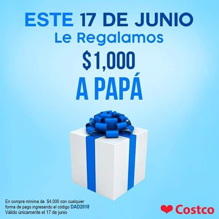 Costco: Cupón $1,000 de descuento en pedidos de $4,000 ó más para festejar a Papá