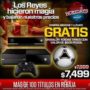 Gamers: Xbox One $7,499 y balón de regalo, PS3 de 12GB $2,999 y más