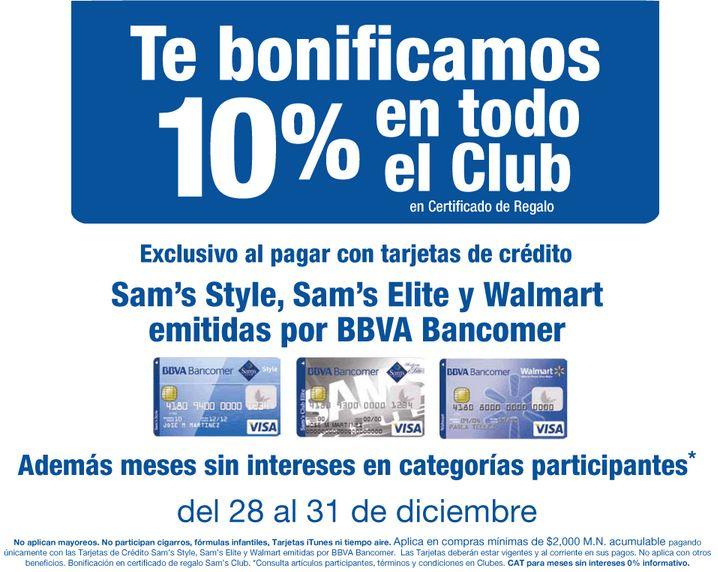 Sam's Club: 6x5 en botellas y 10% de bonificación en toda la tienda