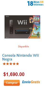Walmart: Wii con Mario Kart $990 y Wii con Just Dance 4 o Skylanders $1,490