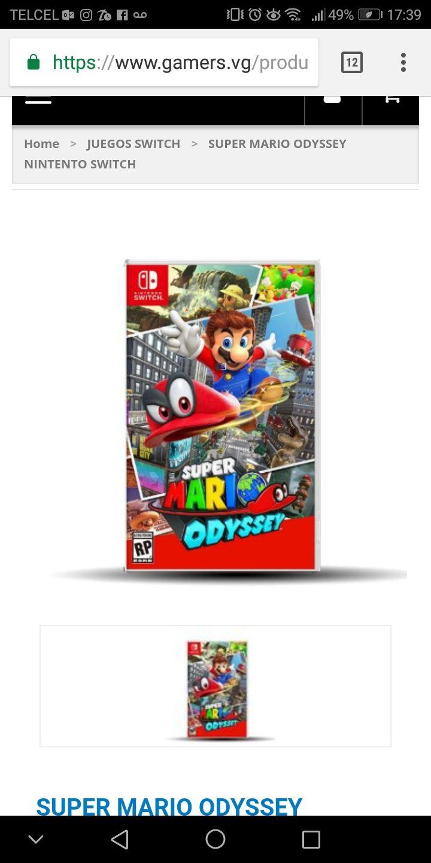 Gamers: Juego super Mario oddisey para Nintendo Switch con MercadoPago