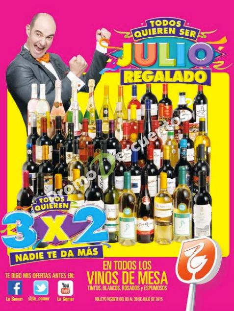 Folleto de ofertas de Julio Regalado 2015 en La Comer del 03 al 09 de julio